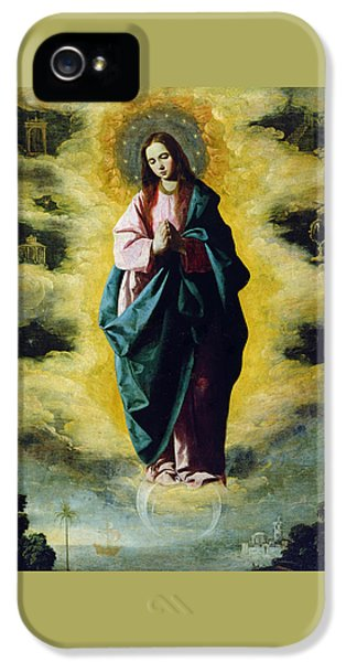 The Immaculate Conception IPhone 5 Case by Francisco de Zurbaran