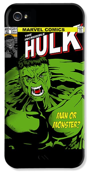 The Incredible Hulk IPhone 5 Case by Mark Rogan