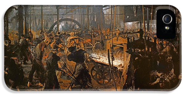 The Iron-rolling Mill Oil On Canvas, 1875 IPhone 5 Case