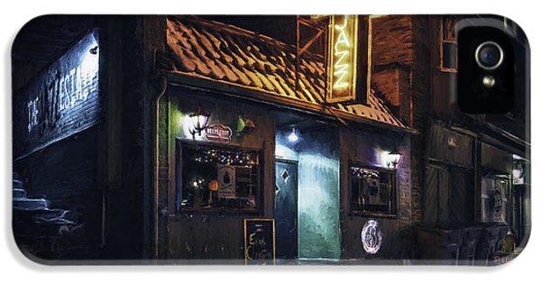 The Jazz Estate Nightclub IPhone 5 Case by Scott Norris