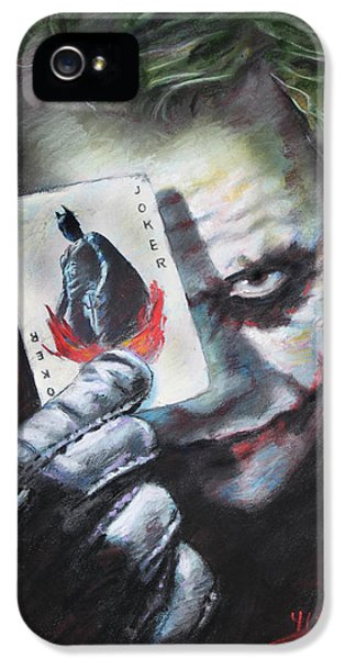 Knight iPhone 5 Case - The Joker Heath Ledger  by Viola El
