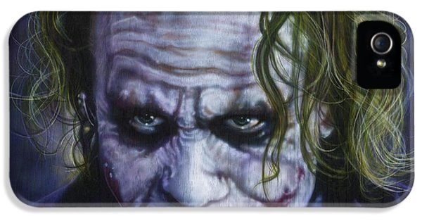 The Joker IPhone 5 Case by Timothy Scoggins