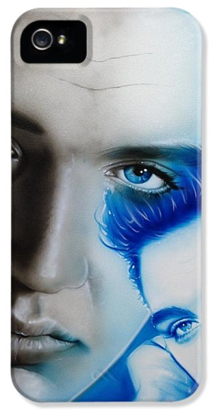 Elvis Presley - ' The King ' IPhone 5 Case by Christian Chapman Art