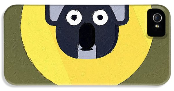 The Koala Cute Portrait IPhone 5 Case by Florian Rodarte