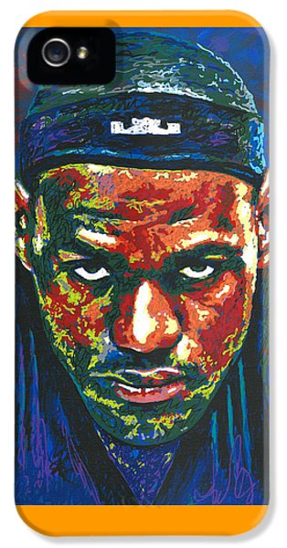 The Lebron Death Stare IPhone 5 Case by Maria Arango