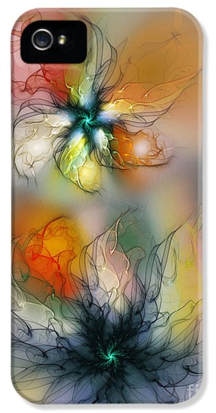 Illustrative iPhone 5 Case - The Lightness Of Being-abstract Art by Karin Kuhlmann