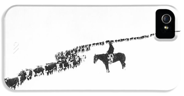 Rural Scenes iPhone 5 Case - The Long Long Line by Underwood Archives  Charles Belden