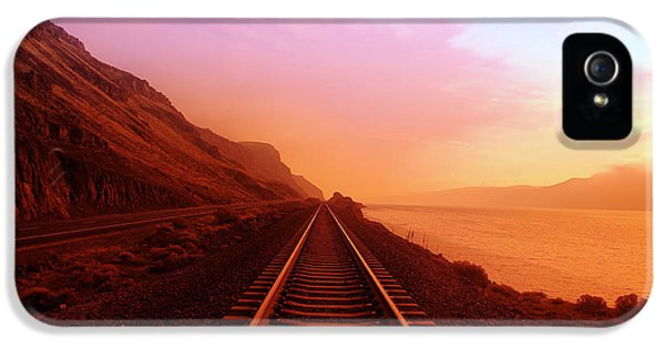 Train iPhone 5 Case - The Long Walk To No Where  by Jeff Swan