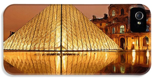 Louvre iPhone 5 Case - The Louvre By Night by Inspirowl Design