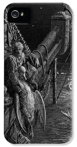 The Mariner Gazes On The Serpents In The Ocean IPhone 5 / 5s Case by Gustave Dore