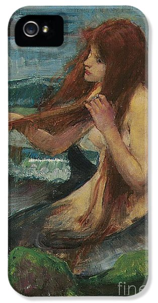 The Mermaid IPhone 5 Case by John William Waterhouse