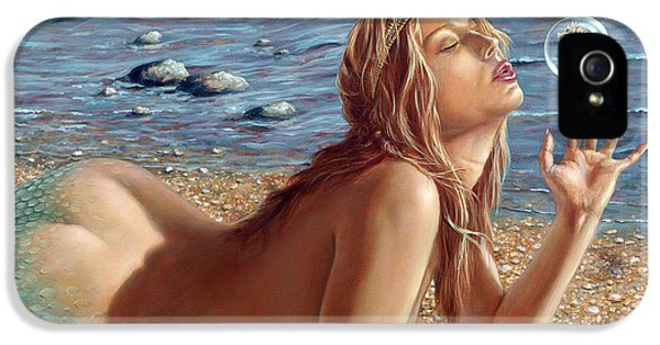 The Mermaids Friend IPhone 5 Case by John Silver