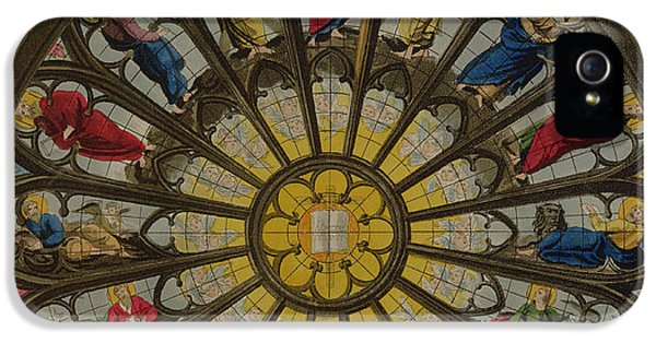 Westminster Abbey iPhone 5 Case - The North Window by William Johnstone White