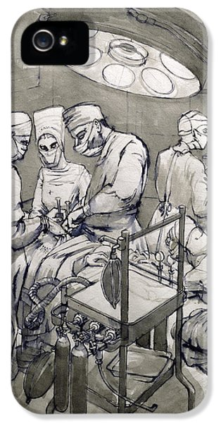 The Operation Theatre, 1966 IPhone 5 Case by Osmund Caine