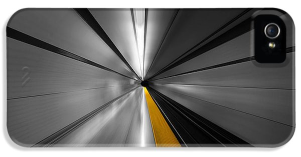 London Tube iPhone 5 Case - The Power Of Speed by Roland Shainidze