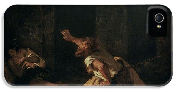 Dungeon iPhone 5 Case - The Prisoner Of Chillon by Ferdinand Victor Eugene Delacroix