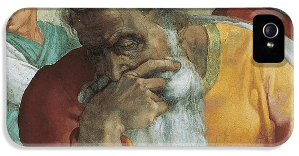 The Prophet Jeremiah IPhone 5 Case by Michelangelo