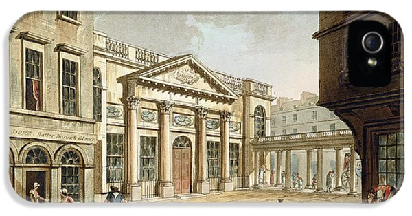 The Pump Room, From Bath Illustrated IPhone 5 Case by John Claude Nattes