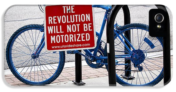 The Revolution Will Not Be Motorized IPhone 5 / 5s Case by Rona Black