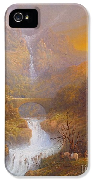 The Road To Rivendell The Lord Of The Rings Tolkien Inspired Art  IPhone 5 Case by Joe  Gilronan