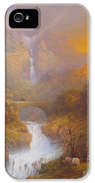 The Road To Rivendell The Lord Of The Rings Tolkien Inspired Art  IPhone 5 / 5s Case by Joe  Gilronan