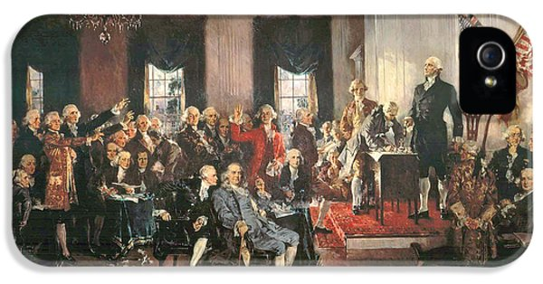 The Signing Of The Constitution Of The United States In 1787 IPhone 5 Case by Howard Chandler Christy