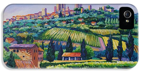 The Towers Of San Gimignano IPhone 5 Case by John Clark