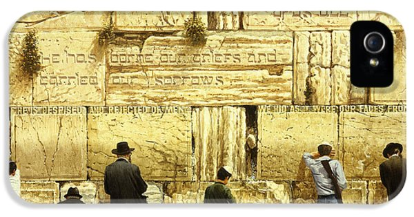 The Western Wall  Jerusalem IPhone 5 Case by Graham Braddock