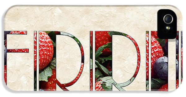 The Word Is Berries  IPhone 5 / 5s Case by Andee Design