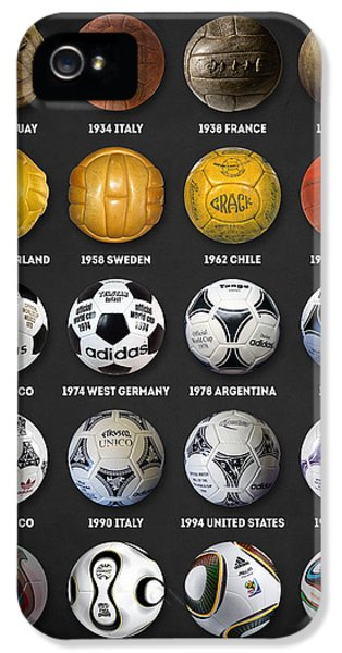 Pele iPhone 5 Case - The World Cup Balls by Taylan Apukovska