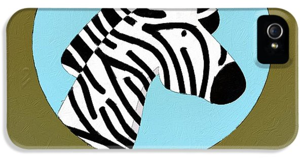 The Zebra Cute Portrait IPhone 5 Case by Florian Rodarte