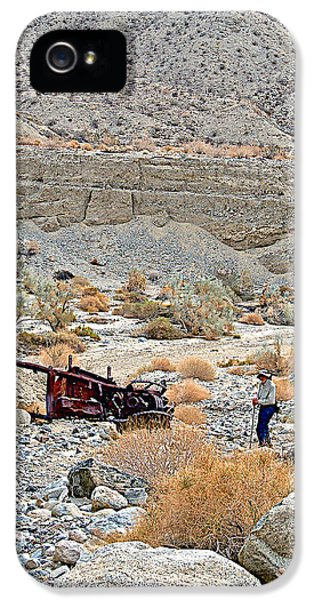 Thelma And Louise Memorial Car Wreck In Pushawalla Palms Canyon In Coachella Valley-california  IPhone 5 Case by Ruth Hager
