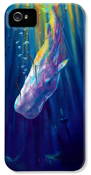 Thew White Whale IPhone 5 Case by Yusniel Santos