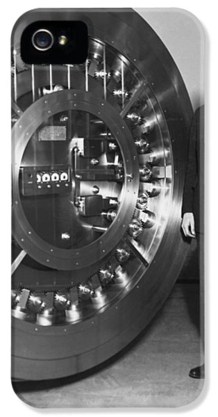 Thirty Ton Bank Vault Door IPhone 5 Case by Underwood Archives