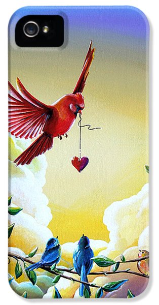 Illustrative iPhone 5 Case - This Heart Of Mine by Cindy Thornton