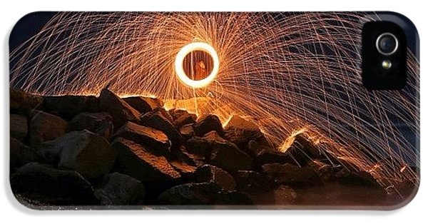 iPhone 5 Case - This Is A Shot Of Me Spinning Burning by Larry Marshall