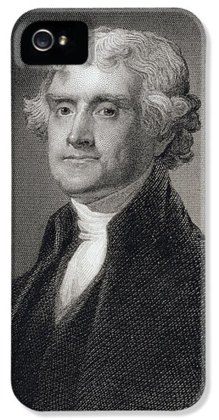Thomas Jefferson IPhone 5 Case by Gilbert Stuart