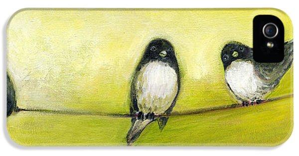 Three Birds On A Wire No 2 IPhone 5 Case
