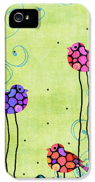 Three Birds - Spring Art By Sharon Cummings IPhone 5 Case