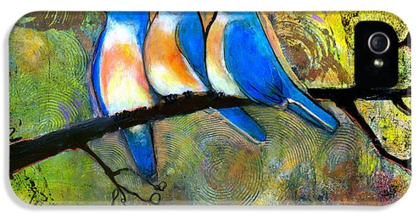 Bluebird iPhone 5 Case - Three Little Birds - Bluebirds by Blenda Studio