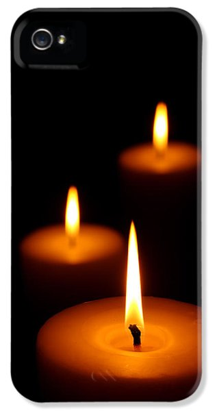 Three Burning Candles IPhone 5 Case
