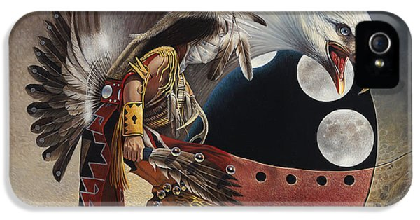 Three Moon Eagle IPhone 5 Case by Ricardo Chavez-Mendez