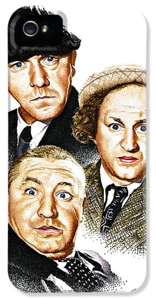 Three Stooges IPhone 5 Case by Judy Skaltsounis