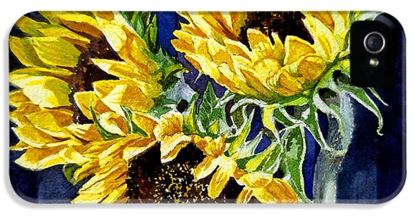 Three Sunny Flowers IPhone 5 Case