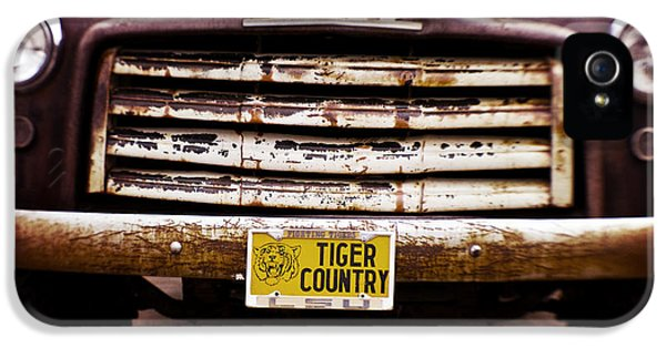 Tiger Country - Purple And Old IPhone 5 Case by Scott Pellegrin