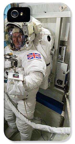Tim Peake Preparing For Spacewalk IPhone 5 Case by Nasa