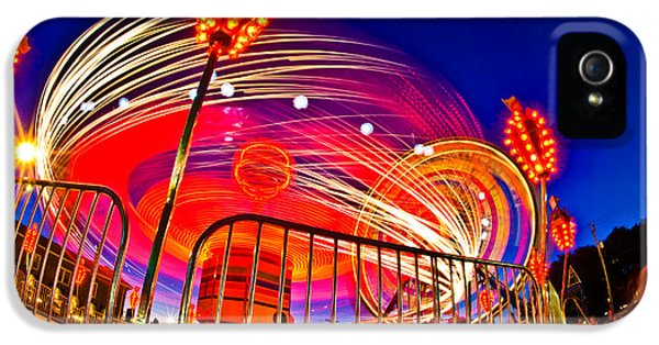 Time Exposure Of A Carnival Ride IPhone 5 Case
