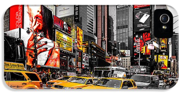 Empire State Building iPhone 5 Case - Times Square Taxis by Az Jackson