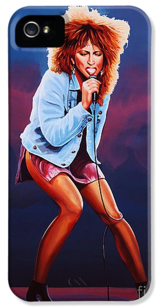 Tina Turner IPhone 5 Case by Paul Meijering