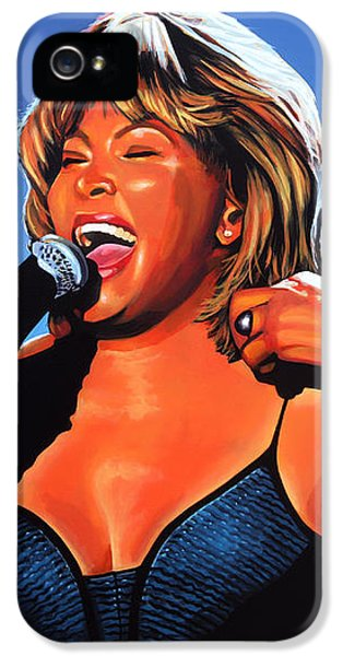 Rhythm And Blues iPhone 5 Case - Tina Turner Queen Of Rock by Paul Meijering
